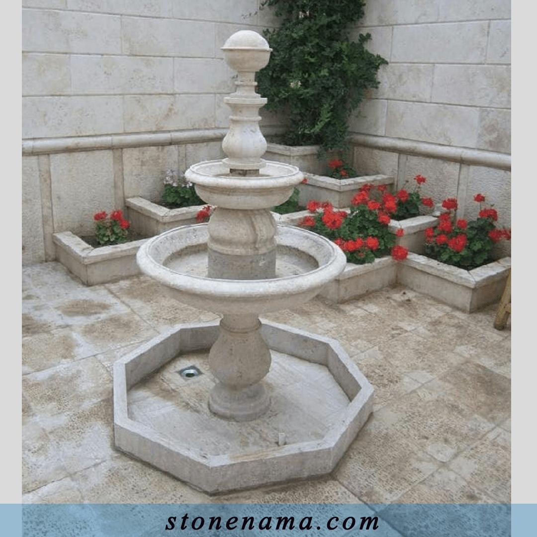 حوض سنگی حیاط